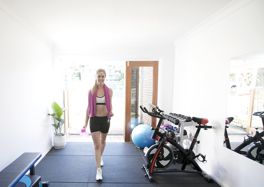 Sarah AKA The Mummy Trainer in her studio on the Gold Coast. Helping women get back to healthy, safe movement post-partum