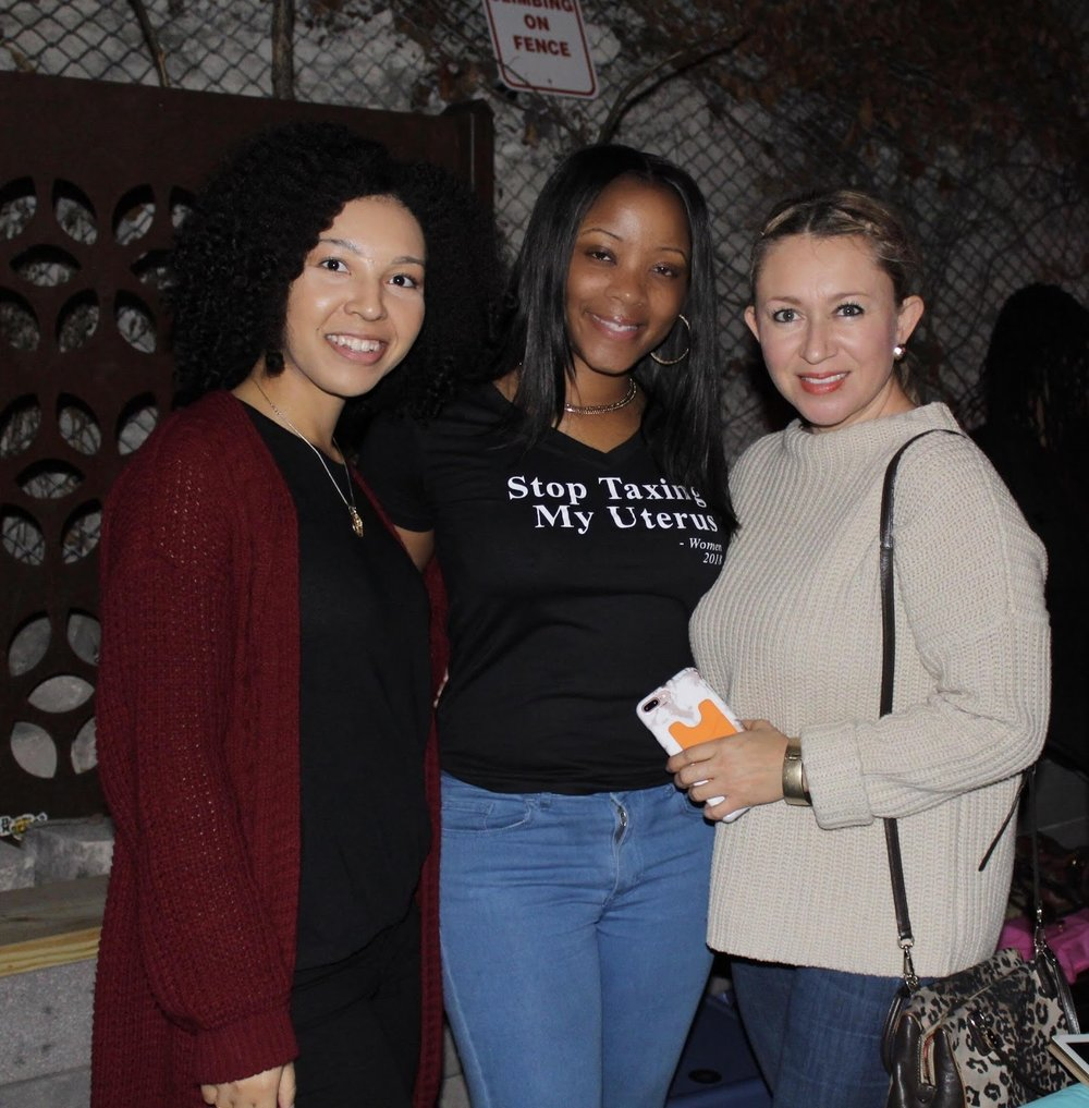 From left to right VP Brooke Harrison, Founder Lamanda Ballard, Planned Parenthood Sponsor