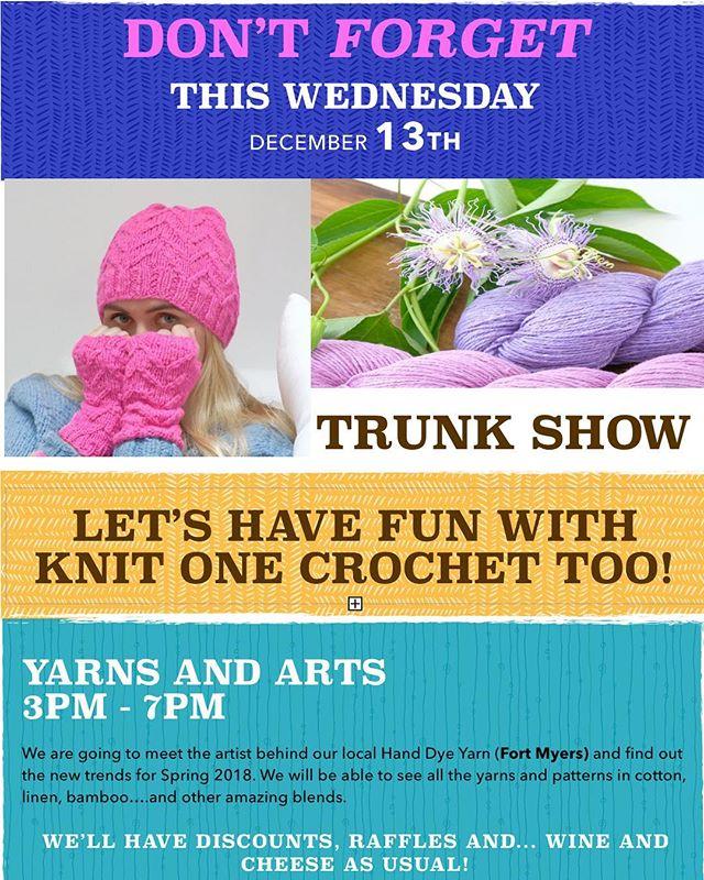 YARNS - LAUGHS - FRIENDS Visit us @33308 NE 32 st Fort Lauderdale. www.yarnsandarts.com _________________________________________________  #knit  #handmade  #yarn  #crochet  #strikking  #wool  #knittingaddict  #knitwear  #knitted #handknit  #i_loveknitting  #yarnlove  #knitting_inspiration  #crocheting  #knitter  #YarnsandArts