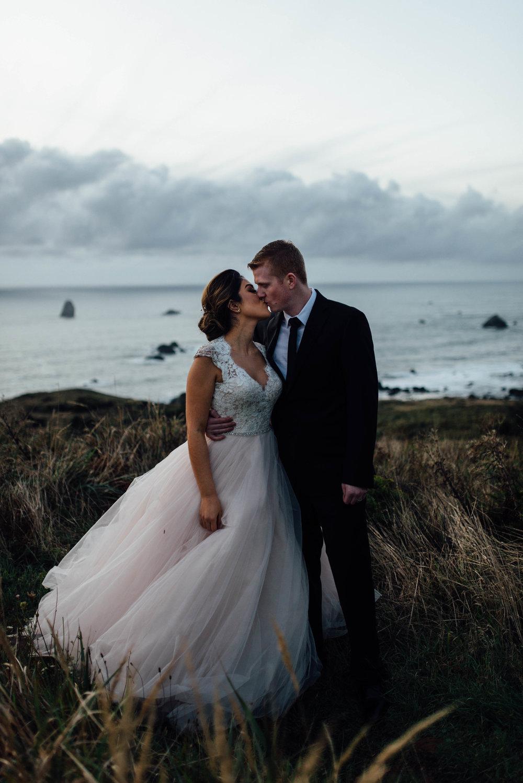 Oregon Coast Wedding | Blush Dress | Oregon Destination Photographer : Jessicaheronimages.com