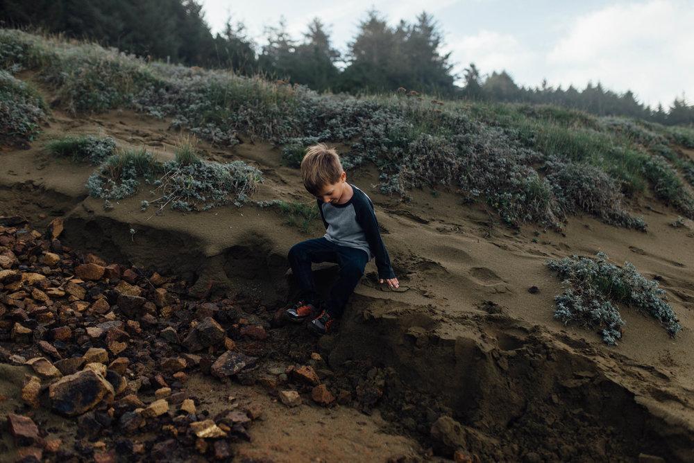 Oregon Coast Lifestyle Family Photos