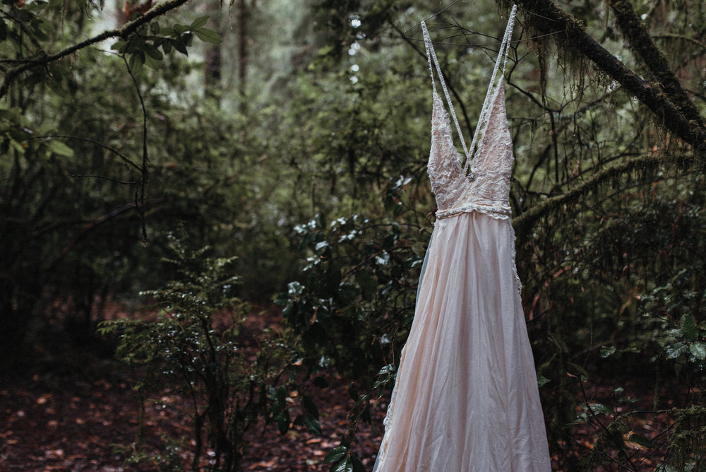 Intimiate Redwoods Elopement , Elopement Inspiration, Jessica Heron Images, Northern California Elopement, Oregon Elopement, Oregon Wedding, Elopement Ideas, homeade dress, diy dress