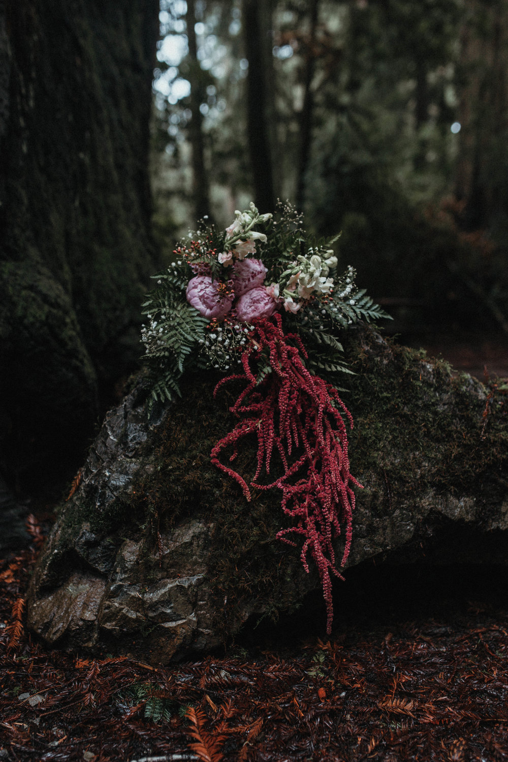 Intimiate Redwoods Elopement , Elopement Inspiration, Jessica Heron Images, Northern California Elopement, Oregon Elopement, Oregon Wedding, Elopement Ideas, diy bouquet, fern bouquet