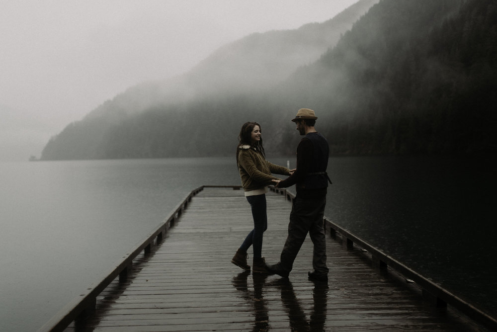 Rainy Olympic Coast Engagements , Lake Crescent Engagements , Olympic Peninsula , Jessica Heron Images, Rainy Engagements , Northwest Photographer jessicaheronimages.com:blog 1027.JPG