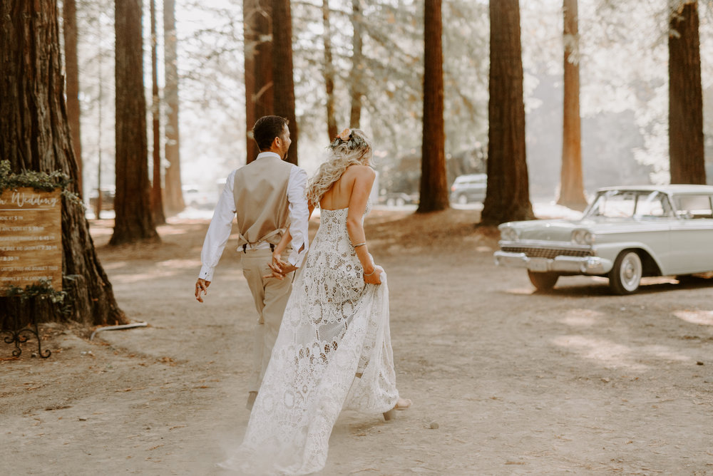Festival Themed Wedding in the Redwoods -