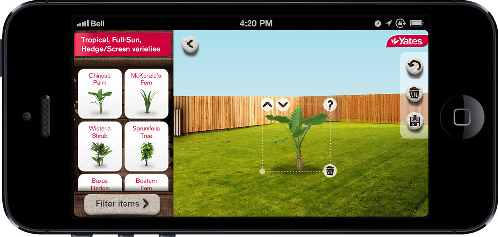 The Garden Visualiser allows users to snap a pic of their yard and place plants & trees in-situ