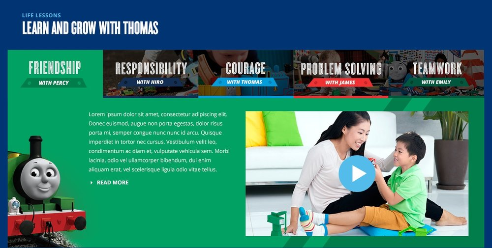 Thomas and Friends - the APAC platform helped parent see the value of using toys to contribute to their childs' development.