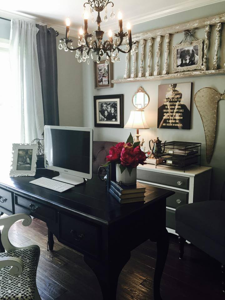 Home office! This cozy little space is nestled right off of our master bedroom! Perfect for peace and quiet!