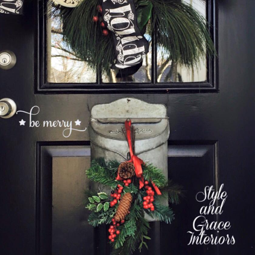 "Loving my new ""Be Merry"" decal for our mudroom door!"