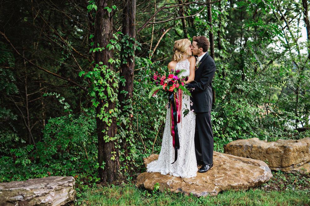 Lush greenery surrounding Hillside Pavilion - Photo by Amilia Photography