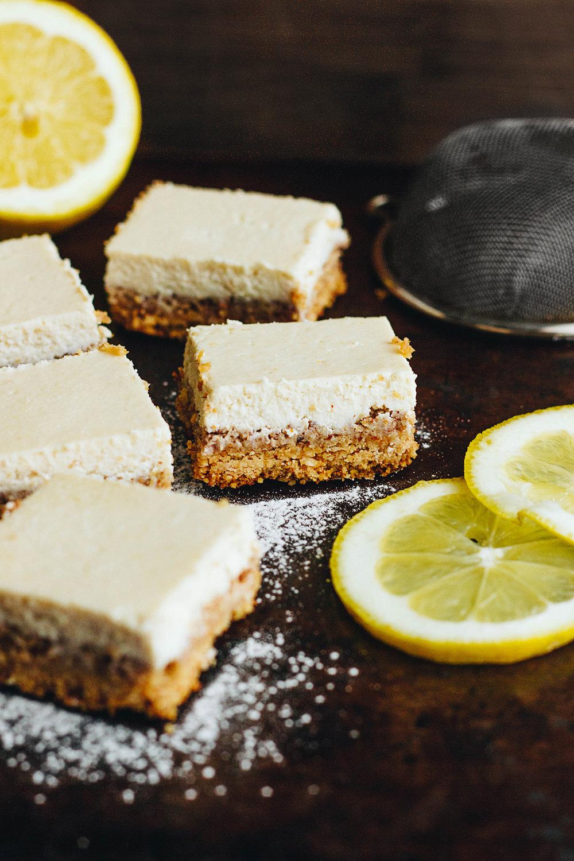 Experimenting with Cashews: Creamy Vegan Lemon Bars