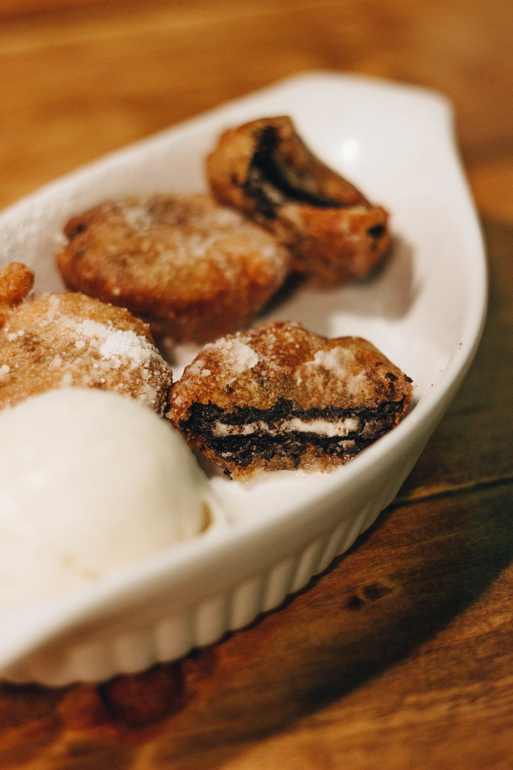 Indulging in Comfort Food at Hogtown Vegan in Toronto: Fried Oreos and Ice Cream