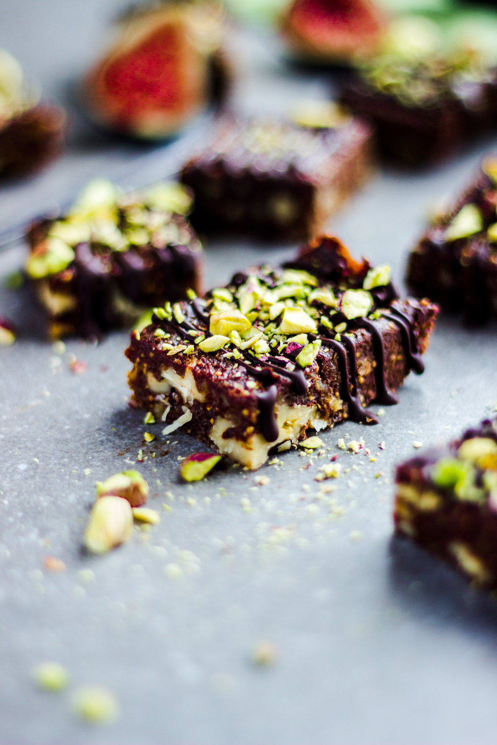 Raw Fig and Walnut Brownies
