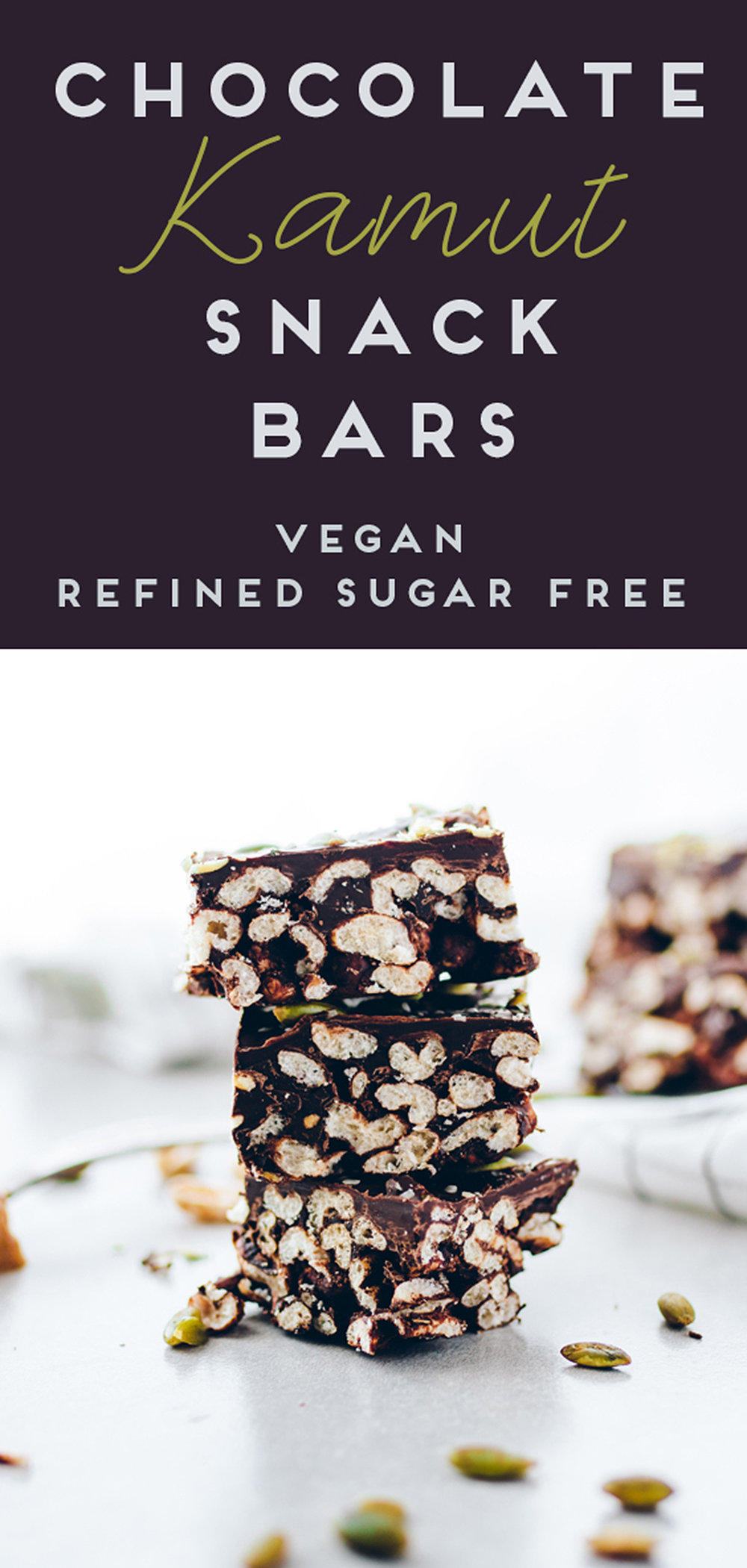 Vegan Chocolate Kamut Snack Bars