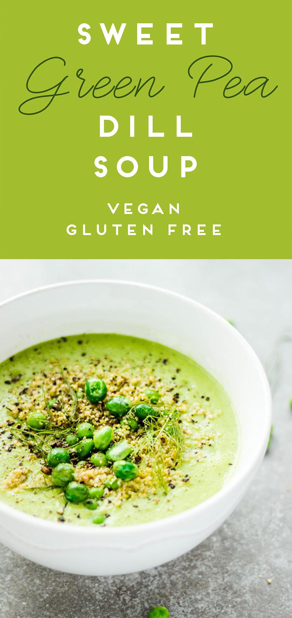 Sweet Green Pea Dill Soup