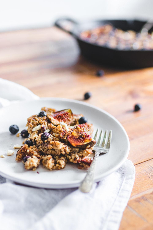 Sugar Free Spiced Oatmeal & Quinoa Bake