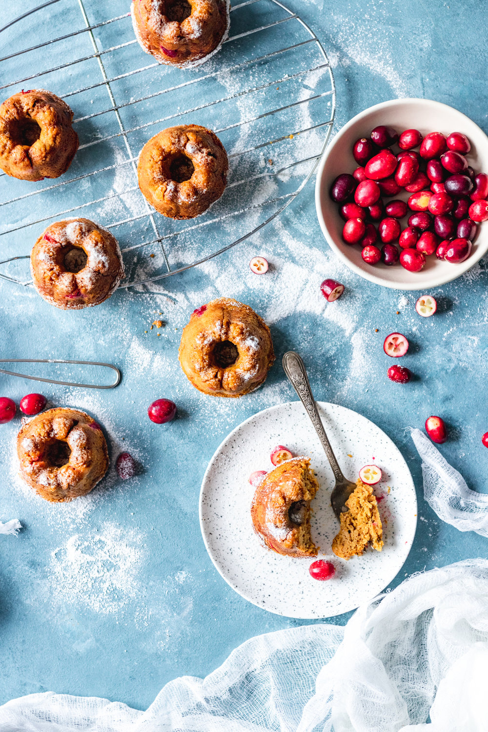 Sugar free Cranberry Pumpkin Mini Bundt Cakes