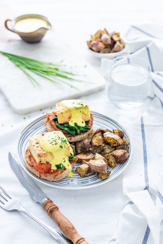 Vegan Eggs Benedict (PLUS: Silky Nut Free Hollandaise)