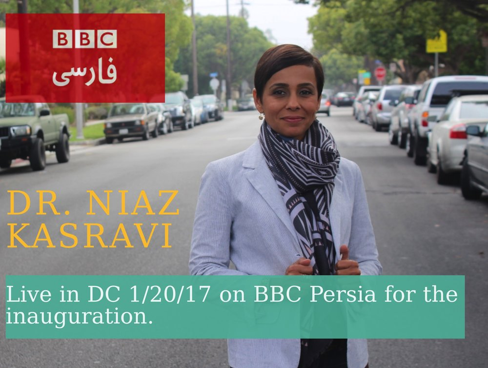 Our Founder and Director, Dr. Niaz Kasravi will be keeping it honest on behalf of advocacy everywhere LIVE on BBC during the 2017 Presidential Inauguration.