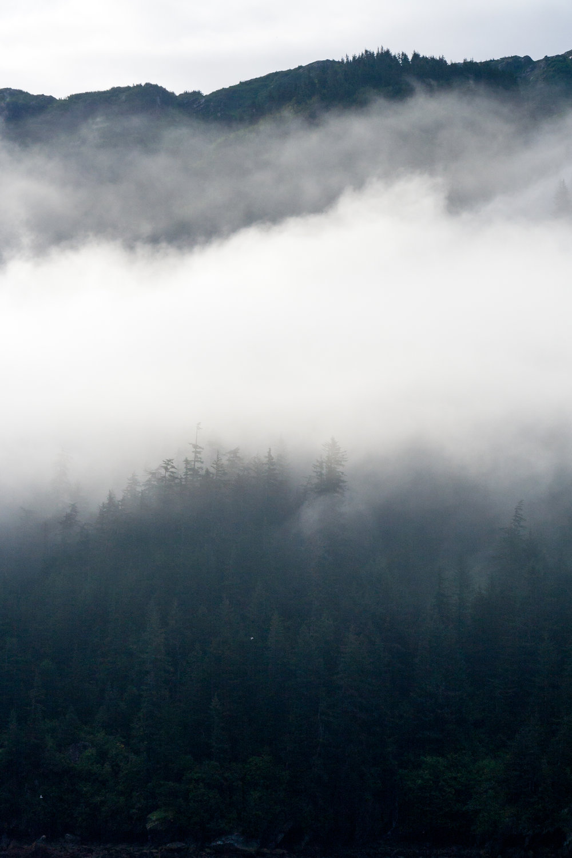 Mountain in Fog, Prince William Sound, Alaska