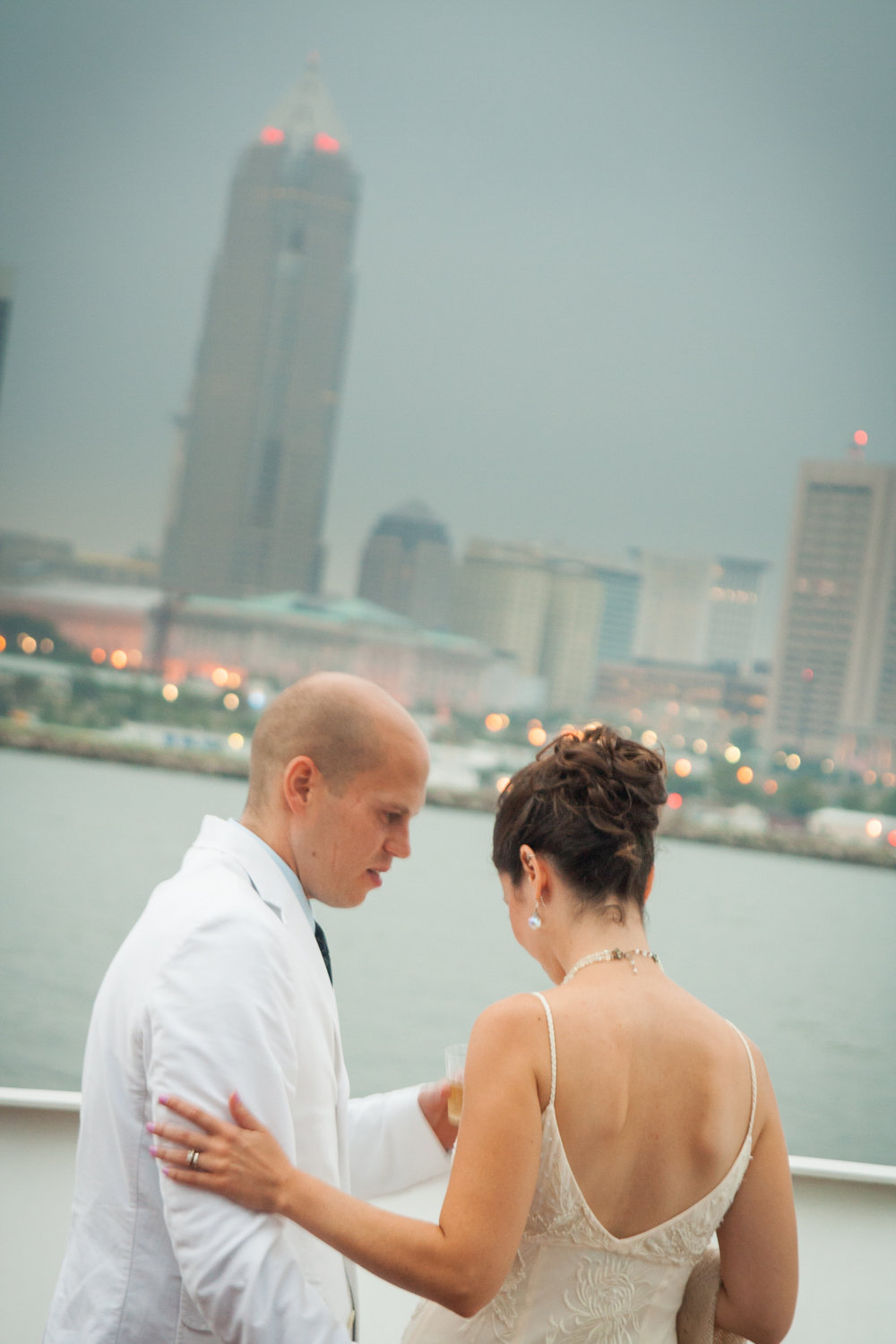 Lake Erie Wedding Portrait