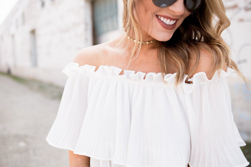 db89170de15 White Off Shoulder Top — Whit s Whims