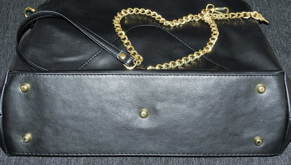 Purse feet to match the zipper tone and hardware