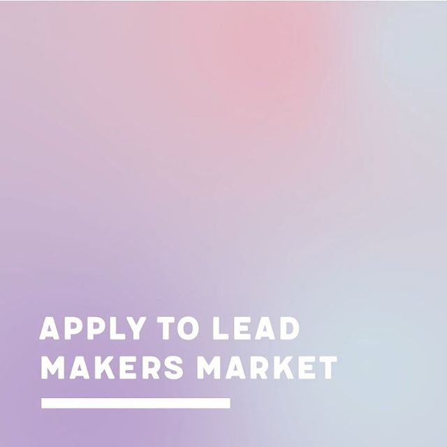 Hi all we're starting to plan Makers Market and need some great people to lead - if you're interested check out the link in the bio 🌈