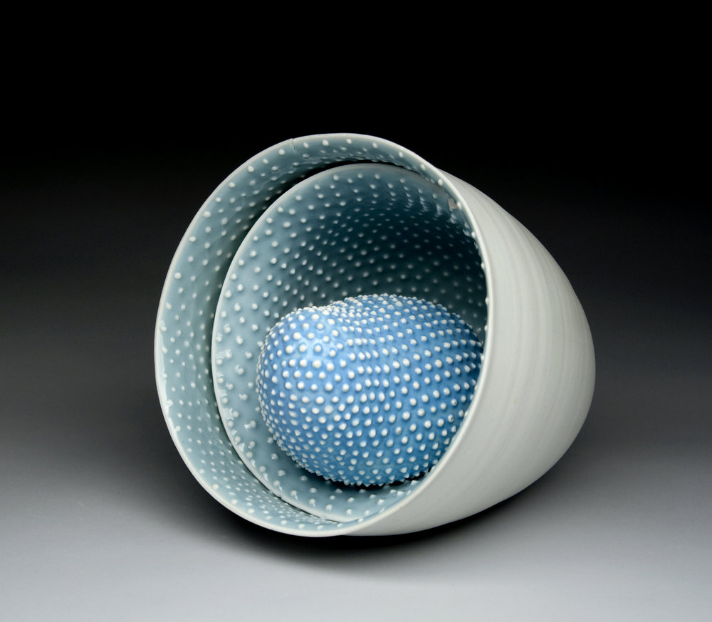 """Affinity Porcelain, Cone 10 reduction 9"""" x 7"""" x 7"""""""
