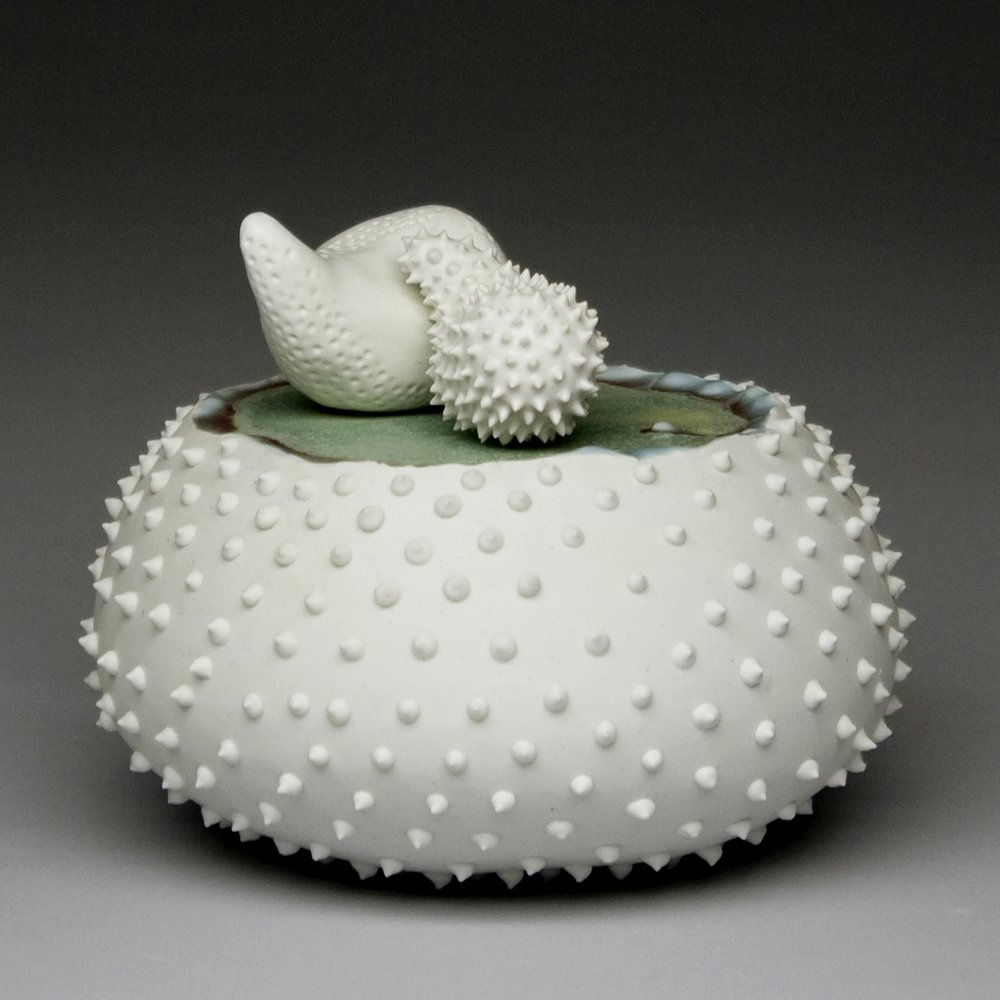 "Persuasion Porcelain, Cone 10 reduction 5"" x 3"" x 5"""
