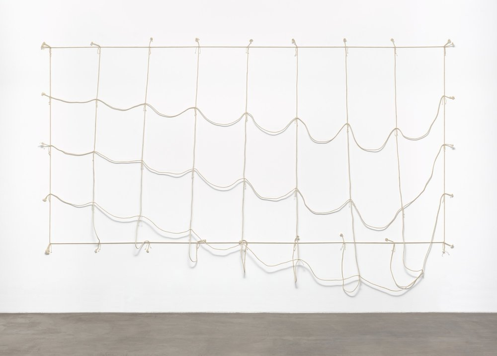 Jiro Takamatsu, Slack of Net, 1969 (Cotton, rope and twine). © 2017 The Museum of Modern Art