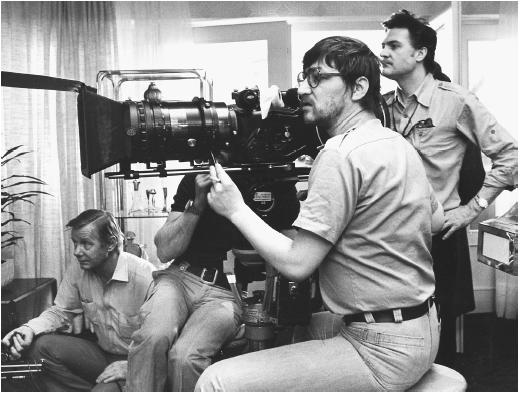 Fassbinder on set \ World on a Wire (1973)