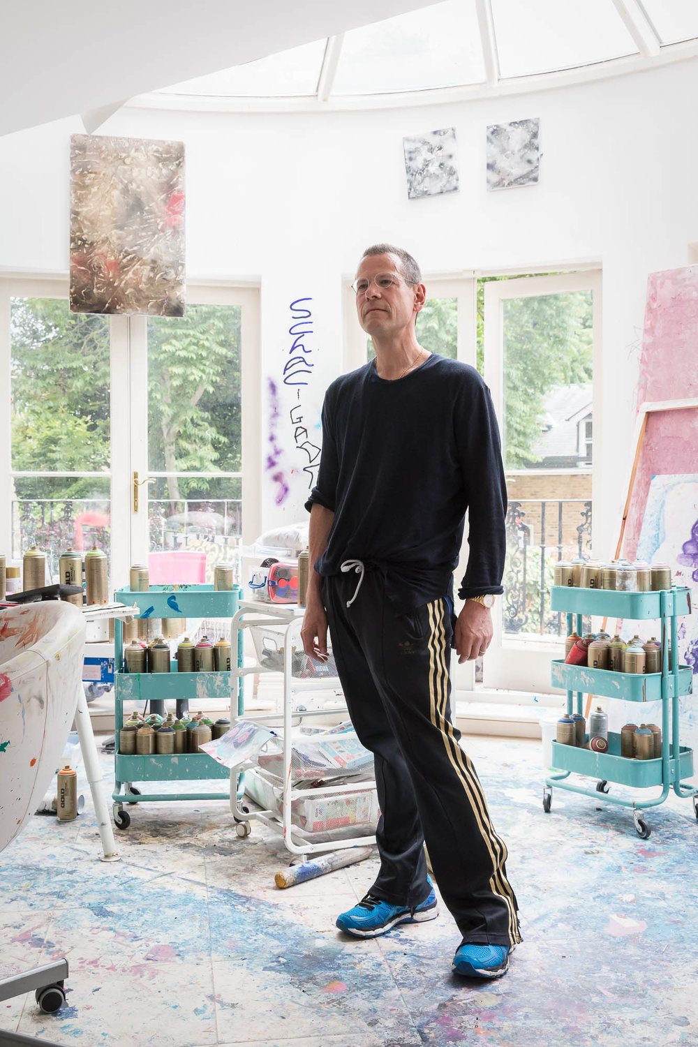 Kenny Schachter at home in London