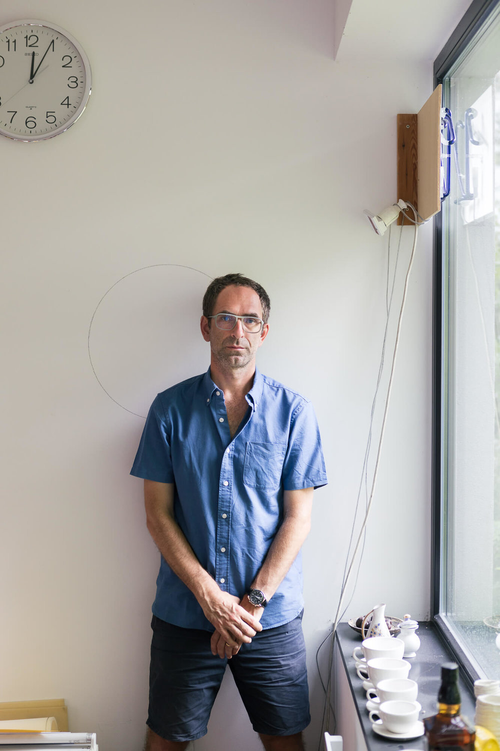 Jonathan Monk at his studio in Berlin