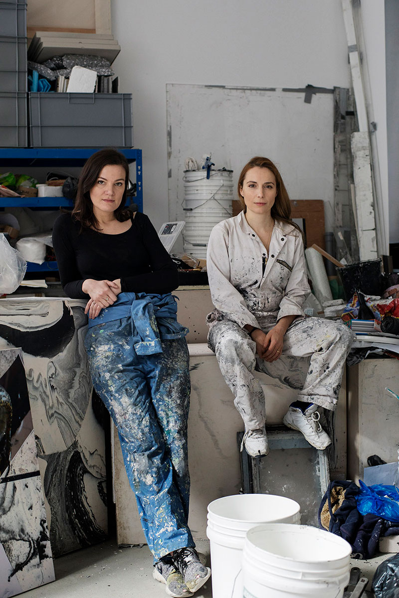 Katharina Stover and Barbara Wolff of Peles Empire in their Berlin studio © Christoph Mack for Collecteurs