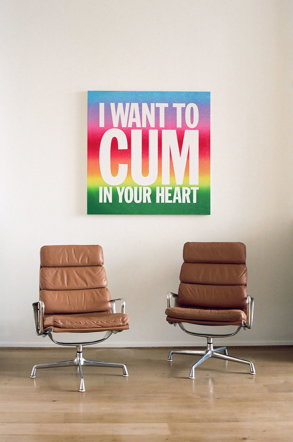 John Giorno \  I WANT TO CUM IN YOUR HEART , 2012 at the home of Charles Riva.