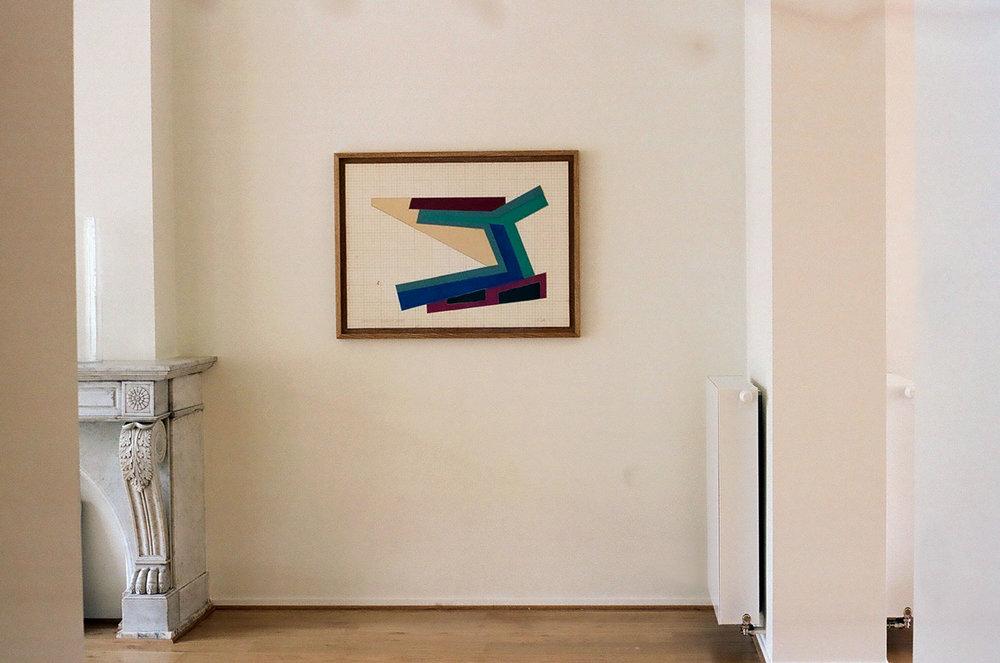Frank Stella \ Kamonica Strumilowa, 1973 at home.