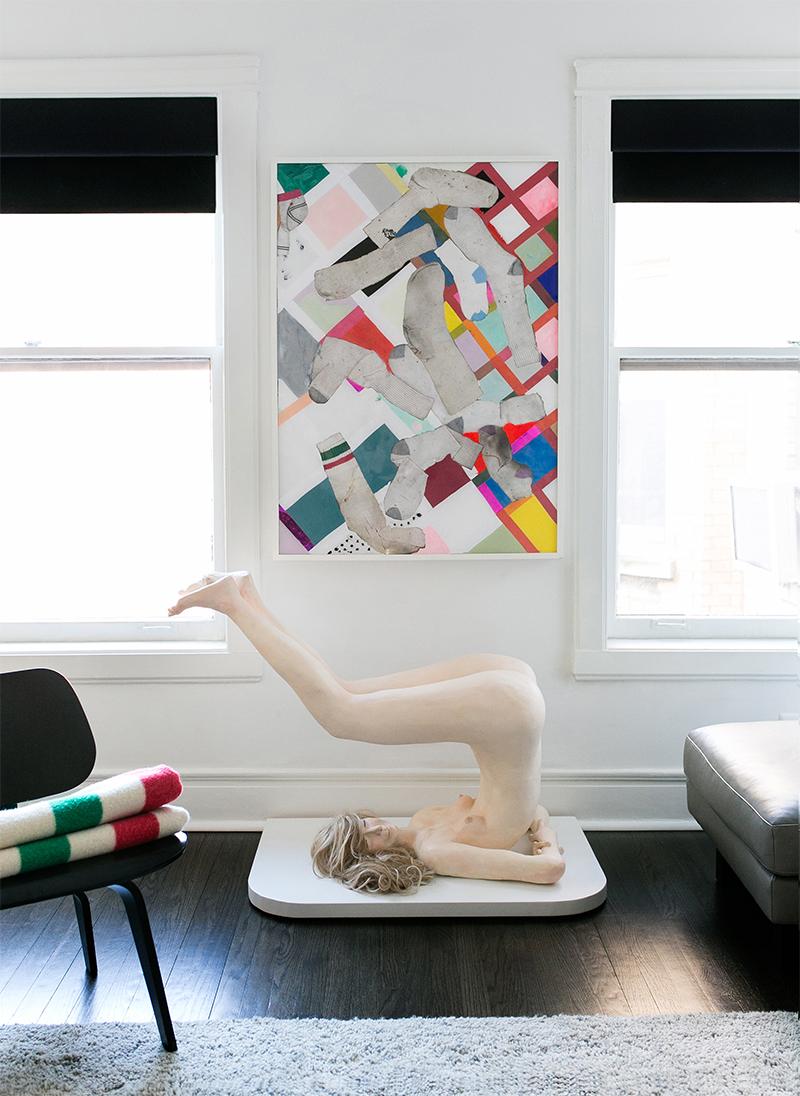Elizabeth Jaeger \ Conch,2014 & Brian Belott \ Not Yet Titled, 2014 - © Emilia Jane for Collecteur