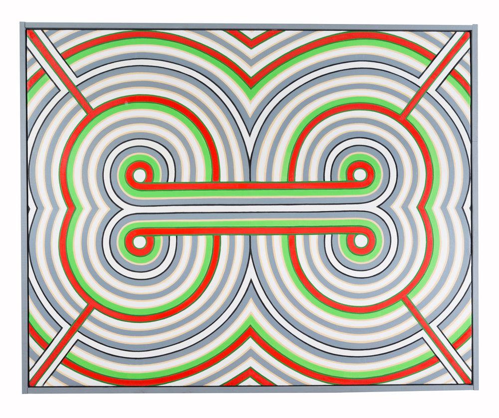 Randy S. Jones \Anomaly, 2014 (oil on canvas, handmade wood frame)-© David Naugle