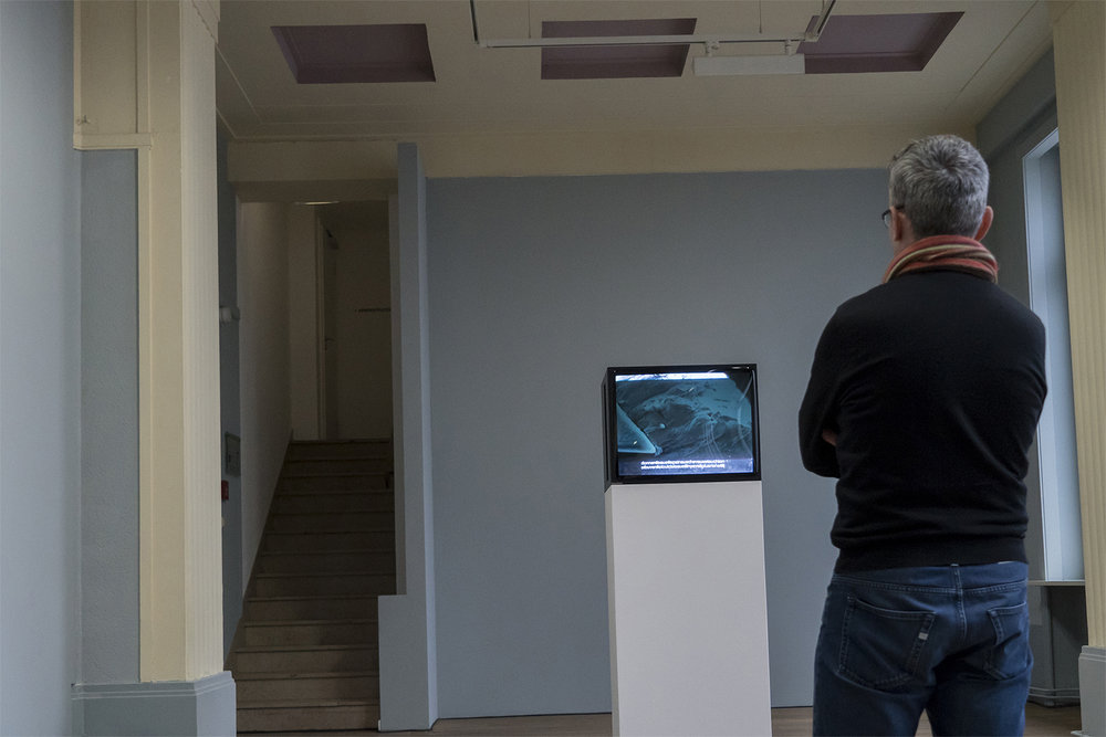 Video work by Fabien Giraud & Raphaël Siboni @ Casino Luxembourg -©Eric Chenal for Collecteurs