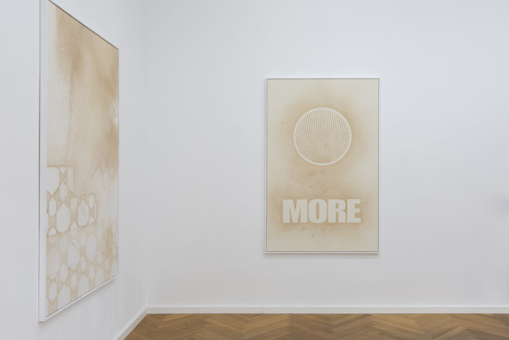 "Exhibition view of Mike Bouchet's ""More Zero"" at Galerie Parisa Kind"