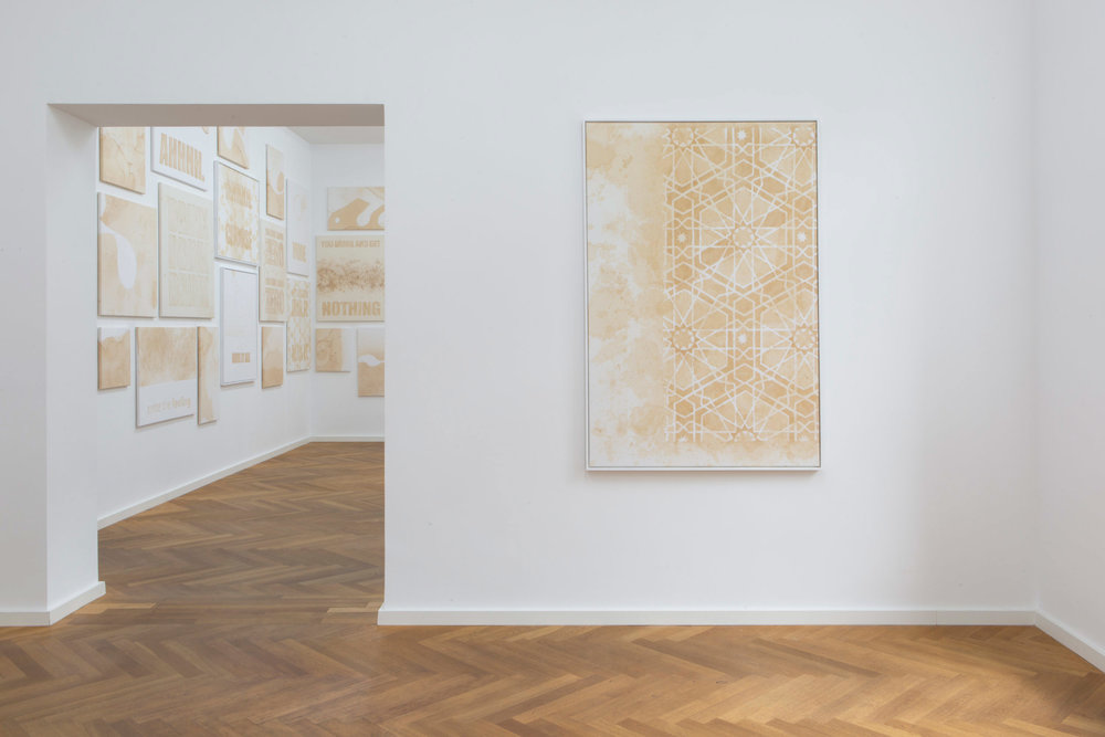 """Exhibition view of Mike Bouchet's """"More Zero"""" at Galerie Parisa Kind"""