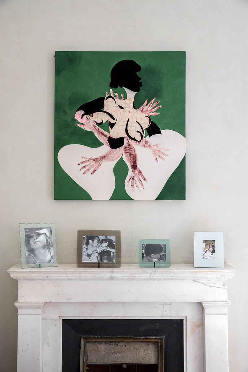 Collezione Agovino at the home of Fabio Agovino.©Maurizio Esposito for Collecteurs.Tschabalala self \ Get' it , 2016