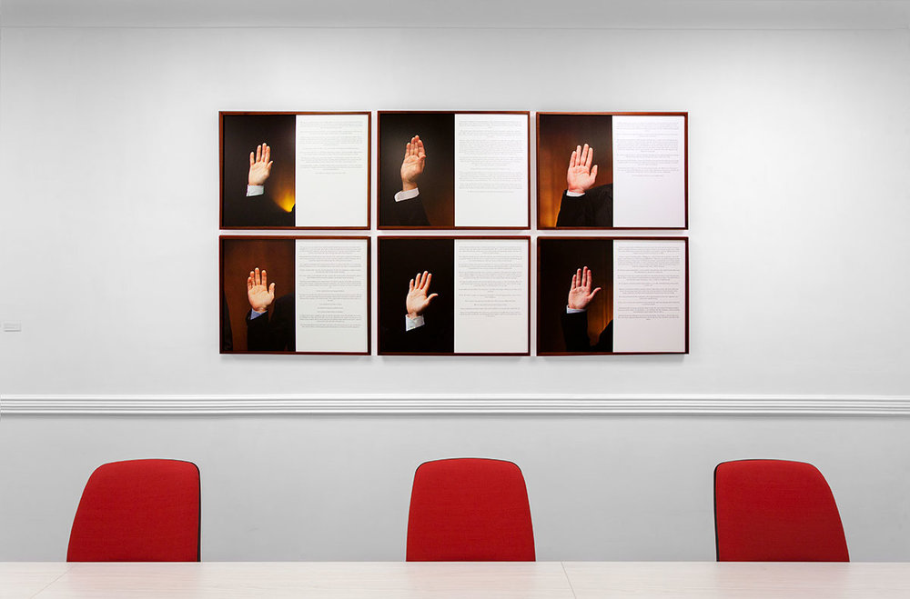 Made in Naples, 2017, Widiba Bank, Naples.©Maurizio Esposito for Collecteurs.Danilo Correale \ The Future in Their Hands (the visible hand) , 2011/2012