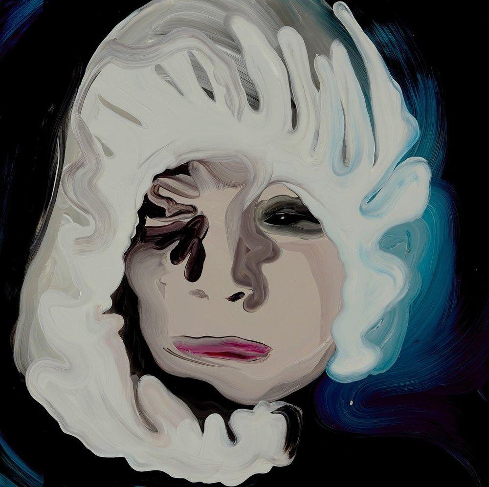 Clare Woods \ A Violet Hue, 2017 Oil on aluminium 39 2/5 × 39 2/5 in; 100 × 100 cm  Martin Asbæk Gallery, Copenhagen CHART ART FAIR 2018