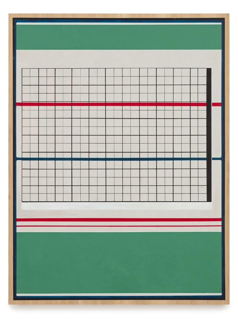 Matts Leiderstam \ Panel (26) , 2018 Oil and acrylic on poplar panel 25 3/5 × 19 3/10 in; 65 × 49 cm   Andréhn-Schiptjenko, Stockholm CHART ART FAIR 2018