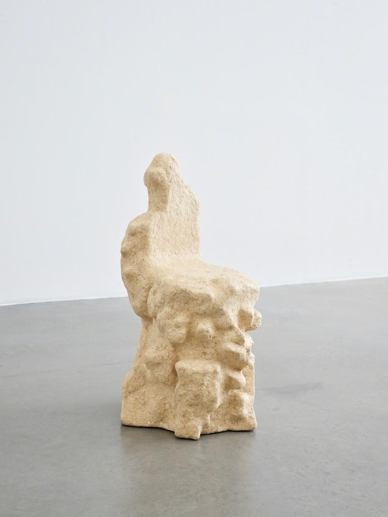 Sigve Knutson \ Wood Clay Chair , 2017 Wood, wood dust, wood shavings, PVA- glue, expanded polystyrene 36 3/5 × 17 3/10 × 16 9/10 in; 93 × 44 × 43 cm  Galleri Format Oslo, Oslo    CHART ART FAIR 2018