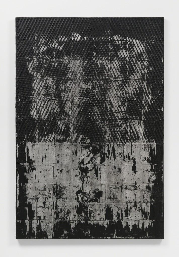 Asger Dybvad Larsen \ Untitled, 2018 Mixed media on canvas 59 1/10 × 39 2/5 in; 150 × 100 cm  Gether Contemporary, Copenhagen V    CHART ART FAIR 2018