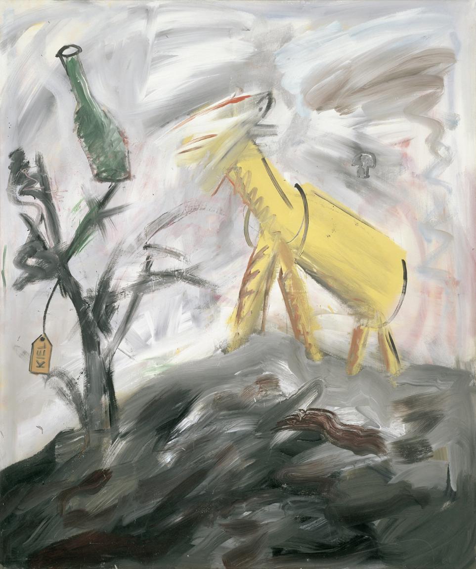 Albert Oehlen \ Painting No. 1 (Gegen den Liberalismus - Against Liberalism), 1980 Image Courtesy: Gallery Max Hetzler