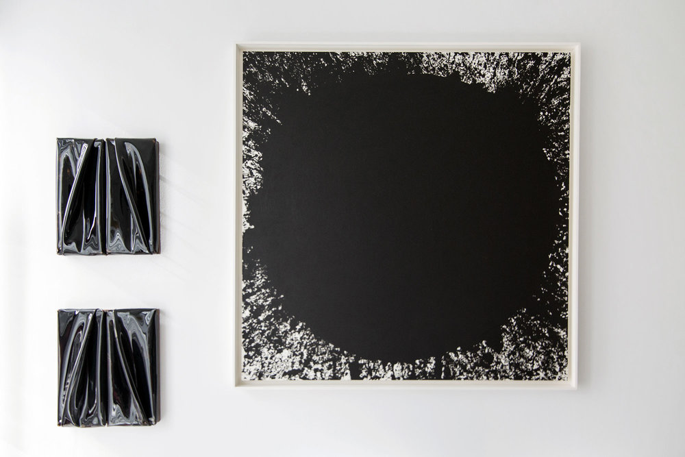 Daniel Turner's  Untitled, 5150, 2013 (Left) and Richard Serra's Freddie King, 1999 (Right).  © Monica McGivern for Collecteurs Magazine